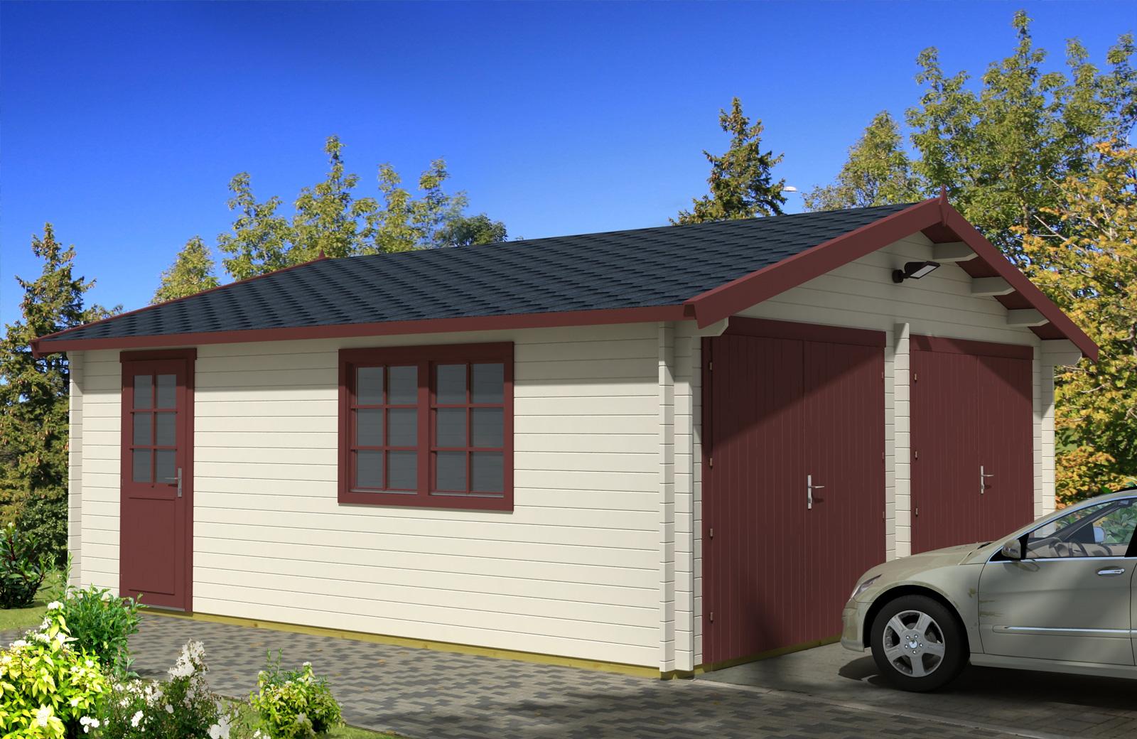 Drevená garáž D 7