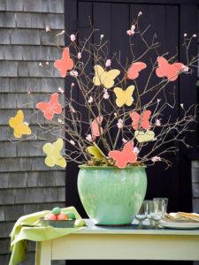 motýli kvetináč
