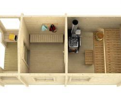 Záhradná sauna drevena sauna