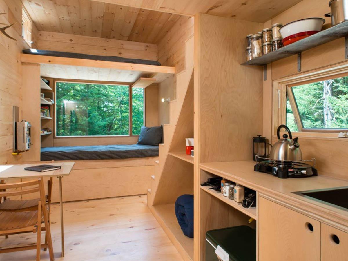 minimalistická obývačka