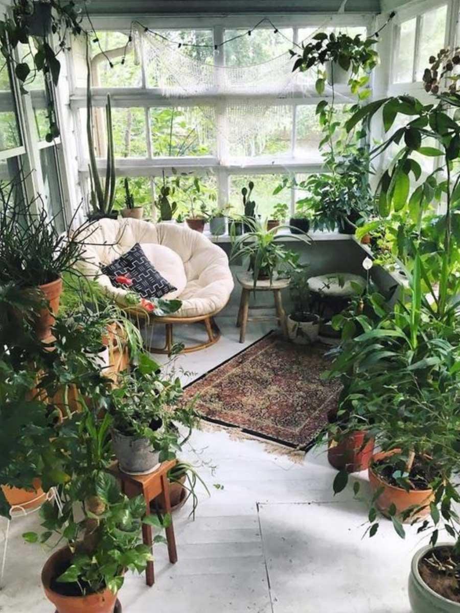 výzdoba záhradného domčeka
