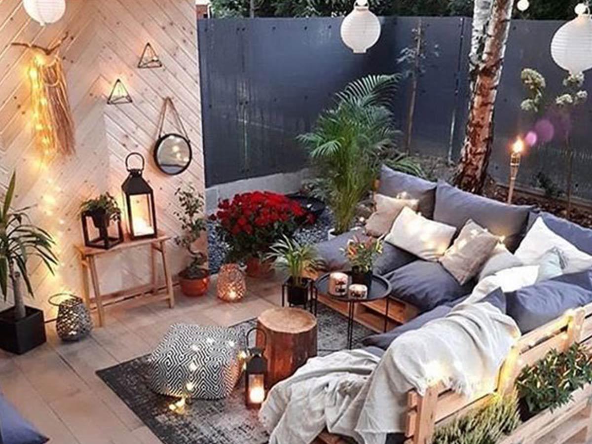 terasa v záhrade