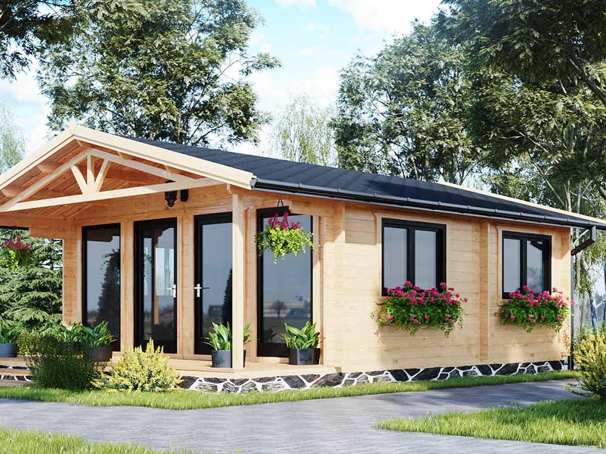 drevený záhradný domček
