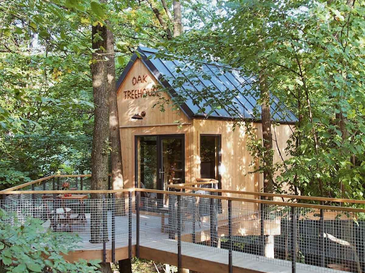 drevená chata na strome