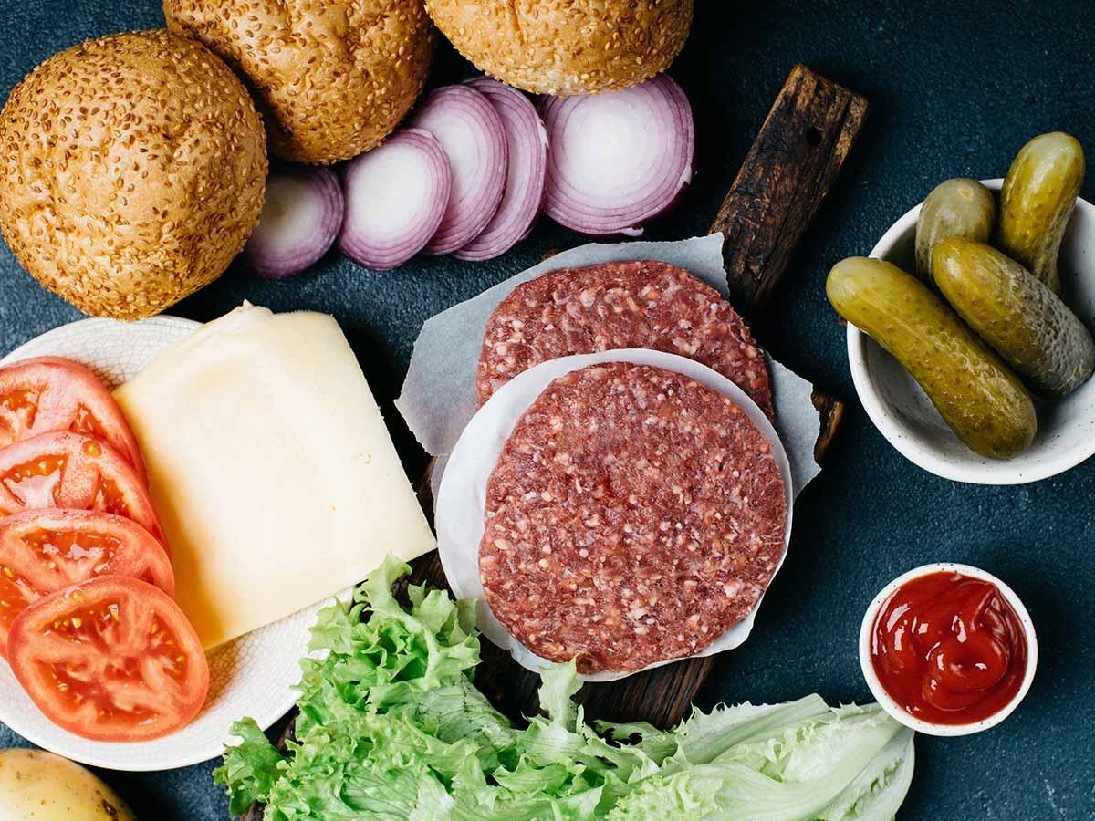 prísady na burger