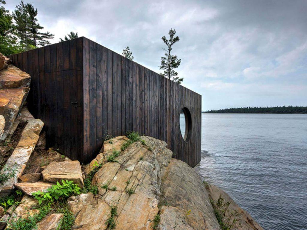 drevena sauna pri mori