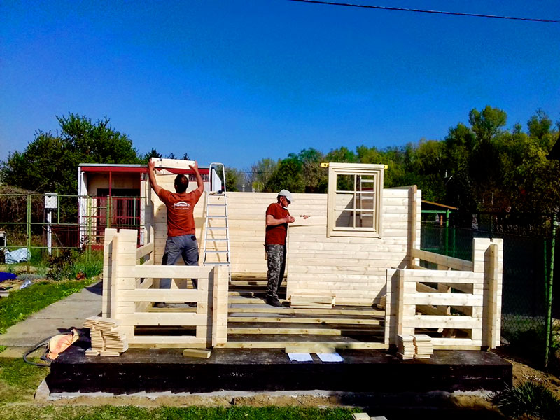 montáž záhradného domčeka