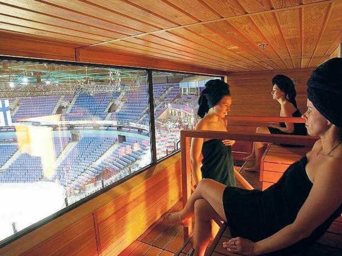 sauna na stadione