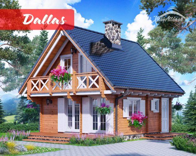 drevená chata Dallas