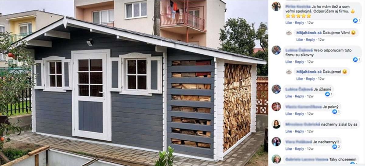 facebook komentáre k záhradnému domčeku PULA